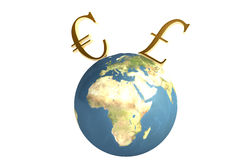 Conceito global da finança Fotos de Stock Royalty Free