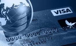 Conceito global da operação bancária Fotografia de Stock Royalty Free