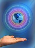 Conceito global da tecnologia Fotos de Stock