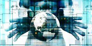 Conceito global da tecnologia digital ilustração stock