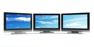Conceito global da televisão Imagem de Stock