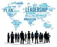 Conceito global de Management Coach Chief do chefe da liderança ilustração stock