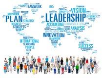Conceito global de Management Coach Chief do chefe da liderança fotografia de stock royalty free