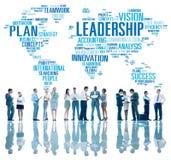 Conceito global de Management Coach Chief do chefe da liderança foto de stock royalty free