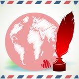Conceito global do blogue ilustração do vetor