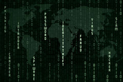 Conceito global do spyware Imagens de Stock Royalty Free