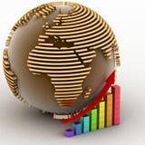 Conceito global do sucesso Foto de Stock Royalty Free