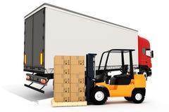 conceito global do transporte de carga 3d Fotos de Stock Royalty Free