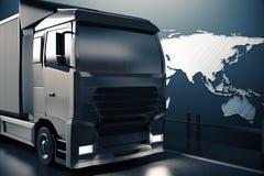 Conceito global do transporte do frete ilustração royalty free