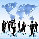 Conceito global dos recursos humanos Fotografia de Stock
