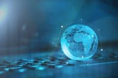 Conceito global & internacional do negócio fotos de stock