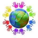 Conceito global para crianças Fotografia de Stock Royalty Free