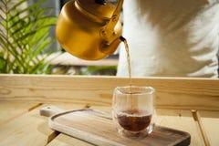 Conceito gourmet do chá e do café imagens de stock royalty free