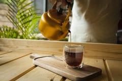 Conceito gourmet do chá e do café fotos de stock
