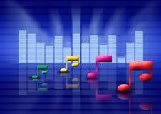 Conceito gráfico do equalizador Foto de Stock