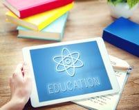Conceito gráfico dos ícones da física da ciência da educação Imagens de Stock
