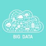 Conceito grande dos dados da nuvem ilustração royalty free
