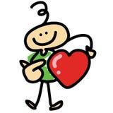 Conceito hand-drawn do amor dos desenhos animados Fotografia de Stock Royalty Free