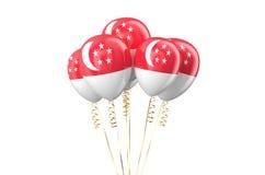 Conceito holyday dos balões patrióticos de Singapura Imagem de Stock Royalty Free