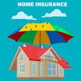 Conceito home do seguro, elemento do projeto, ilustração do vetor Foto de Stock Royalty Free