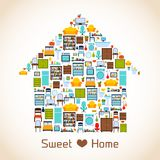 Conceito home doce Foto de Stock Royalty Free