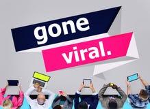 Conceito ido de Vial Popular Social Media Networking fotografia de stock