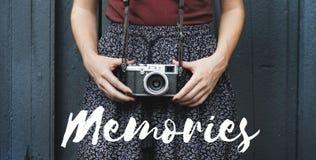 Conceito importante vivificante dos minutos do momento das memórias Imagens de Stock Royalty Free