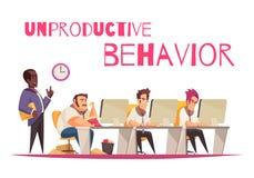 Conceito improdutivo do comportamento ilustração stock