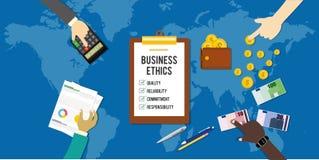 Conceito incorporado da empresa ética das éticas de negócio Fotos de Stock