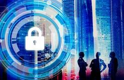 Conceito incorporado da segurança da segurança da proteção do negócio Fotografia de Stock