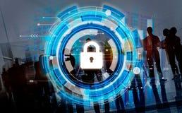 Conceito incorporado da segurança da segurança da proteção do negócio Imagens de Stock
