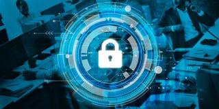 Conceito incorporado da segurança da segurança da proteção do negócio Foto de Stock Royalty Free