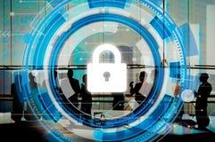 Conceito incorporado da segurança da segurança da proteção do negócio Imagem de Stock