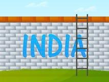 Conceito indiano da celebração do dia da república Foto de Stock Royalty Free