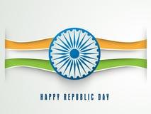 Conceito indiano feliz da celebração do dia da república Fotos de Stock Royalty Free