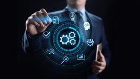 Conceito industrial da otimização da inovação da tecnologia da automatização de processo de negócios fotografia de stock royalty free