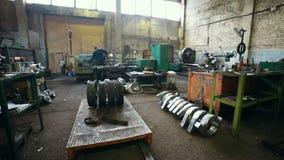 Conceito industrial Planta da construção Muitas máquinas industriais video estoque