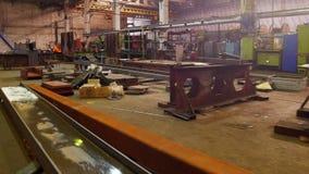 Conceito industrial Uma planta da construção Uma vista geral video estoque