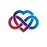 Conceito infinito do amor, símbolo do vetor criado com o laço da infinidade ilustração royalty free