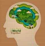 Conceito infographic da educação do cérebro Foto de Stock
