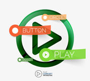 Conceito infographic do botão do jogo do vetor ilustração royalty free