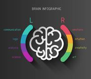 Conceito infographic do cérebro Foto de Stock Royalty Free