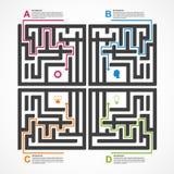 Conceito infographic do labirinto Molde do projeto Fotos de Stock Royalty Free