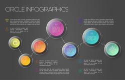 Conceito infographic do mapa do mundo Foto de Stock Royalty Free