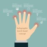 Conceito infographic do toque da mão Imagens de Stock Royalty Free