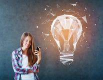 Conceito inovativo das tecnologias Foto de Stock