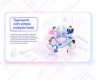 Conceito inovativo do vetor das ferramentas de análise do negócio ilustração do vetor
