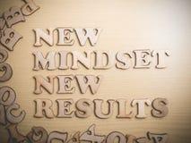 Conceito inspirador das citações das palavras do desenvolvimento do auto, Mindset novo imagem de stock