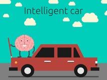 Conceito inteligente do carro ilustração do vetor