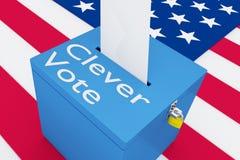 Conceito inteligente do voto ilustração royalty free